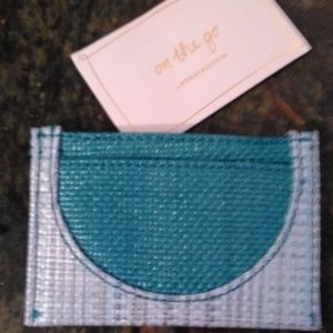 NWT On The Go Anthropologie Card Case